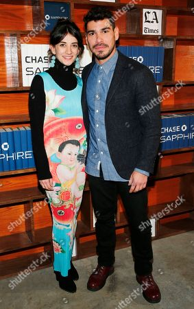 Sheila Vand, Raul Castillo. Sheila Vand and Raul Castillo pose for a photo at the LA Times Studio @ Sundance Film Festival Presented by Chase Sapphire, in Park City, Utah