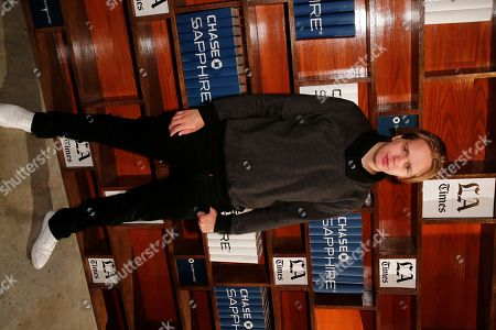 Stock Picture of Actor Valter Skarsgard hangs out at the LA Times Studio @ Sundance Film Festival Presented by Chase Sapphire, in Park City, Utah