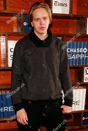 Actor Valter Skarsgard hangs out at the LA Times Studio @ Sundance Film Festival Presented by Chase Sapphire, in Park City, Utah