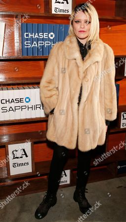 Stock Photo of Actress Sky Ferreira poses for a photo at the LA Times Studio @ Sundance Film Festival Presented by Chase Sapphire, in Park City, Utah
