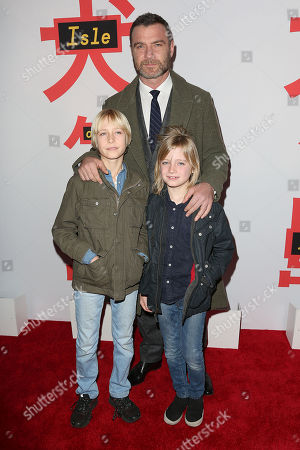 Liev Schreiber with sons Samuel and Alexander