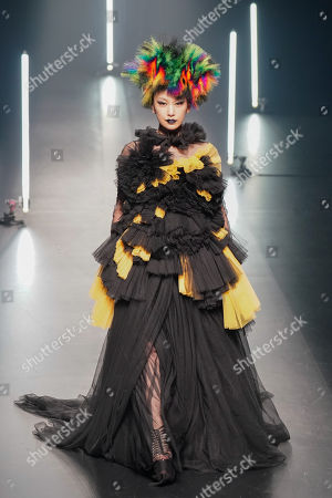 Japanese singer Mika Nakashima presents a creation from the Autumn/Winter 2018 collection by Chinese born designer Viviano Sue for the label 'Viviano Sue' during the Tokyo Fashion Week in Tokyo, Japan, 21 March 2018. The presentation of the Autumn/Winter 2018 collections runs from 19 to 24 October.
