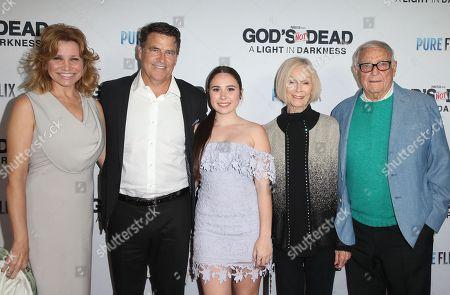 Gigi Rice, Ted McGinley, Emily McGinley, Bob McGinley