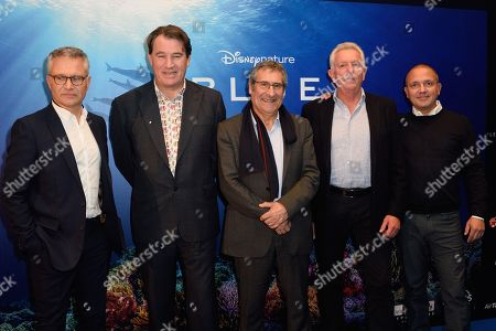 Jean Francois Camilleri, Alastair Fothergill, Gilles Boeuf, Keith Scholey and Denis Lagrange