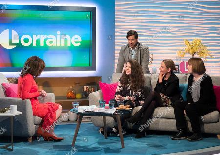 Lorraine Kelly, Ruby Allen-Denton, Leo Bancroft, Melissa Denton, Karen Harler