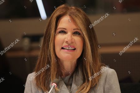 Stock Picture of Former Congresswoman Michele Bachmann and the Executive Director of Skyline During the CSW62 Meetings today at the UN Headquarters in New York.