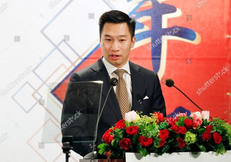 Alex Wong, US Deputy Assistant Secretary of State delivers a speech during the 2018 Hsieh Nien Fan of the American Chamber of Commerce in Taipei, Taiwan