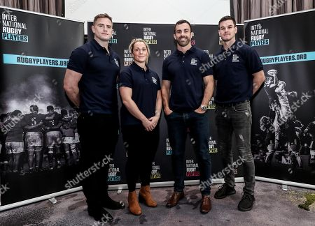 Stars of the international game including Ireland's Jonathan Sexton, and Jamie Heaslip, New Zealand two-time Rugby World Cup winner Conrad Smith and England 15s and 7s player Rachael Burford pictured in Dublin today, as International Rugby Players officially announced its move to the Irish capital. The official representative body of global players has moved to Dublin from Auckland, New Zealand where it was based since 2001, facilitating closer communication with World Rugby and other governing bodies. To coincide with the move, International Rugby Players (formerly IRPA) also launched its new website rugbyplayers.org. Pictured today is (L-R) Jamie Heaslip, Rachel Buford, Conrad Smith and Jonathan Sexton