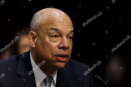 Stock Picture of Former Secretary of Homeland Security Jeh Johnson testifies during a United States Senate Intelligence Committee hearing regarding election security on Capitol Hill in Washington, D.C..