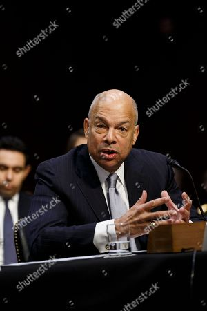 Stock Image of Former Secretary of Homeland Security Jeh Johnson testifies during a United States Senate Intelligence Committee hearing regarding election security on Capitol Hill in Washington, D.C..