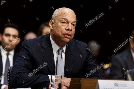 Former Secretary of Homeland Security Jeh Johnson testifies during a United States Senate Intelligence Committee hearing regarding election security on Capitol Hill in Washington, D.C..