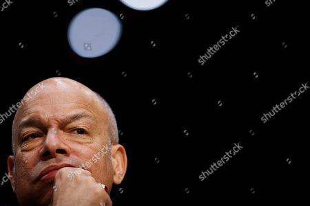 Former Homeland Security Secretary Jeh Johnson pauses during a Senate Intelligence Committee hearing on election security on Capitol Hill in Washington