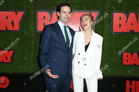 Bill Hader and Sarah Goldberg