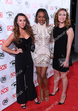 Stock Photo of Michelle Heaton, Kelli Young and Jessica Taylor