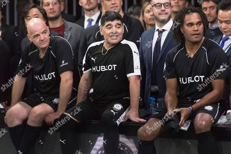 Gianni Infantino, Diego Maradona and Christian Karembeu