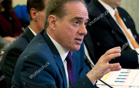 Veterans Affairs Secretary David Shulkin testifies on FY2019 and FY2020 budgets for veterans programs before the Senate Committee on Veterans Affairs on Capitol Hill, in Washington