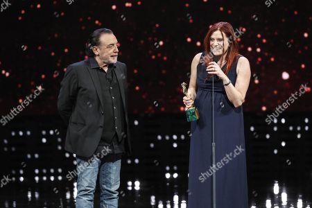 Nino Frassica and Susanna Nicchiarelli