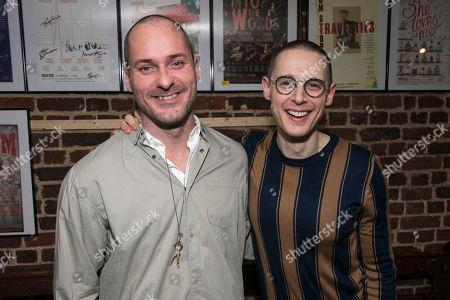 Stock Picture of Declan Bennett (Valentin) and Samuel Barnett (Molina)
