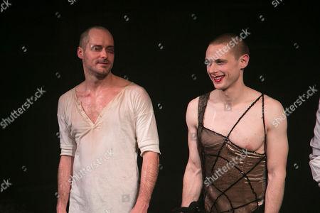Declan Bennett (Valentin) and Samuel Barnett (Molina) during the curtain call