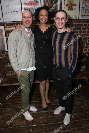 Declan Bennett (Valentin), Grace Cookey-Gam (Warden) and Samuel Barnett (Molina)