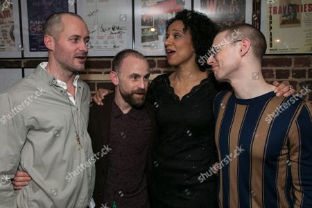Declan Bennett (Valentin), Laurie Sansom (Director), Grace Cookey-Gam (Warden) and Samuel Barnett (Molina)