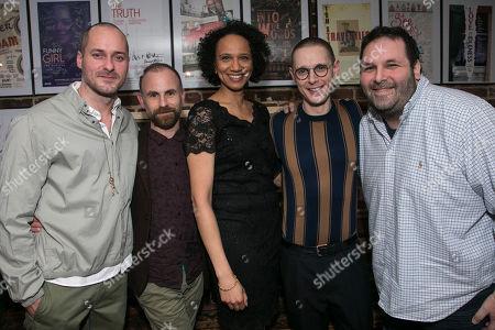 Declan Bennett (Valentin), Laurie Sansom (Director), Grace Cookey-Gam (Warden), Samuel Barnett (Molina) and David Babani (Artistic Director)