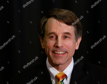 California Insurance Commissioner Dave Jones, a Democratic candidate for Attorney General, speaks at a candidate debate, in Sacramento, Calif. Jones was joined by Republican attorney general candidates Steven Bailey, and Eric Early. Incumbent Attorney General Xavier Becerra did not participate due to a scheduling conflict, according to his office