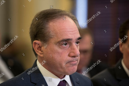 United States Secretary of Veterans Affairs, David Shulkin, testifies during a United States Senate Veterans Affairs Committee at the United States Capitol in Washington, D.C..