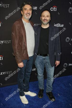 Stock Picture of Chuck Lorre and Steven Molaro
