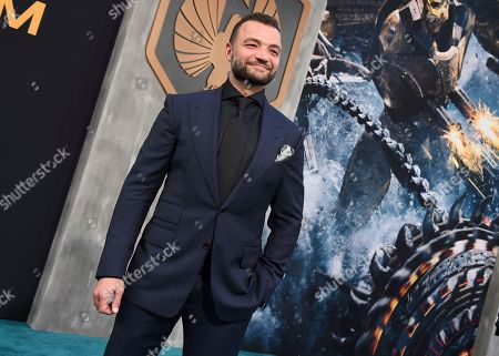 """Stock Photo of Nick E. Tarabay arrives at the global premiere of """"Pacific Rim Uprising"""" at the TCL Chinese Theatre, in Los Angeles"""