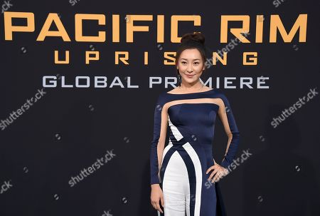 "Lily Ji arrives at the global premiere of ""Pacific Rim Uprising"" at the TCL Chinese Theatre, in Los Angeles"