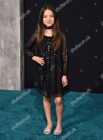 """Madeleine McGraw arrives at the global premiere of """"Pacific Rim Uprising"""" at the TCL Chinese Theatre, in Los Angeles"""