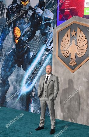 """Director Steven S. DeKnight arrives at the global premiere of """"Pacific Rim Uprising"""" at the TCL Chinese Theatre, in Los Angeles"""