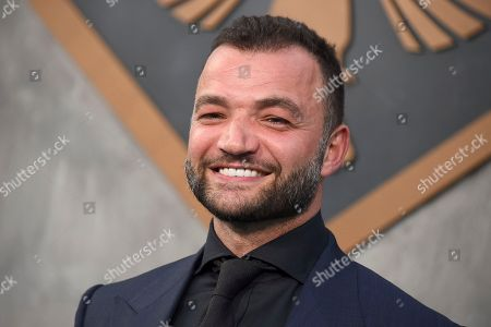 """Stock Image of Nick E. Tarabay arrives at the global premiere of """"Pacific Rim Uprising"""" at the TCL Chinese Theatre, in Los Angeles"""