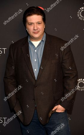 """Lance Barber. Lancer Barber, a cast member in the television series """"Young Sheldon,"""" poses during the 35th Annual PaleyFest at the Dolby Theatre, in Los Angeles"""