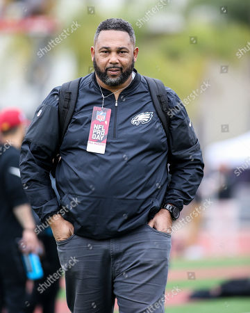Southern California Chris Wilson Chris Wilson, Defensive Line Coach during USC Pro Day, Wednesday, , 2018, in Los Angeles. The Pro Day is intended to showcase talent to NFL scouts for the upcoming draft. (Photo by Jevone Moore)