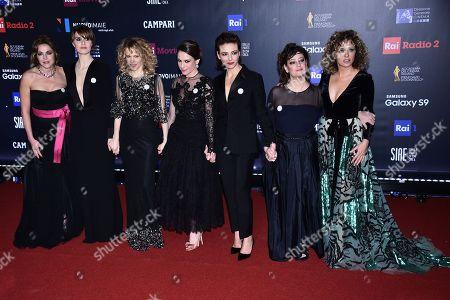 Claudia Gerini, Paola Cortellesi, Sonia Bergamasco, Isabella Ragonese, Jasmine Trinca, Giovanna Mezzogiorno and Valeria Golino