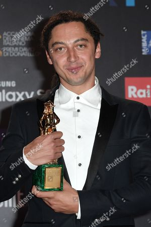 Editorial image of David di Donatello Award ceremony, Press Room, Rome, Italy - 21 Mar 2018