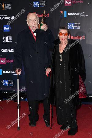 Giuliano Montaldo, Best Supporting Actor, with wife Vera Pescarolo