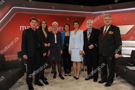 Udo Lielischkies, Anja Kohl, Gabriele Krone Schmalz, Sandra Maischberger, Sahra Wagenknecht, Anthony Glees, Elmar Brok