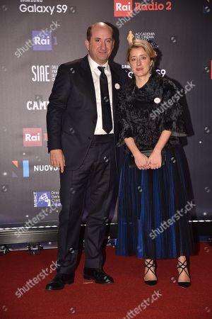 Antonio Albanese with his wife Maria Maddalena Gnudi