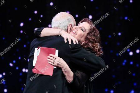 Stock Picture of Giuliano Montaldo, Stefania Sandrelli Special David Award