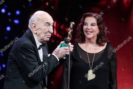 Stock Image of Giuliano Montaldo, Stefania Sandrelli Special David Award
