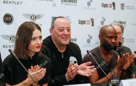 Jean Reno, David Gyasi and Sarah Lind