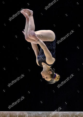 Stock Image of Amy Tinkler (GBR) on Beam