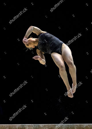 Stock Picture of Amy Tinkler (GBR) on Beam