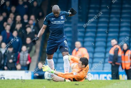 MARC-ANTOINE FORTUNE, LEWIS PRICE. SOUTHEND UNITED V ROTHERHAM UNITED