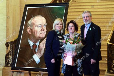 Michelle O'Neill, Bernadette Canning and Gerry Adams