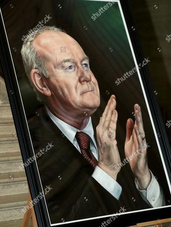 Portrait of former deputy First Minister Martin McGuinness