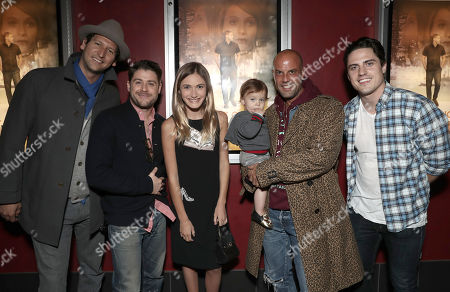 Stock Picture of Med Abrous and Director/Actor Jon Abrahams, Nicole Elizabeth Berger, Christian George and Daniel Colvin